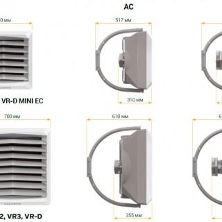 Тепловентилятор водяной VTS Volcano VR 3 AC изображение 5